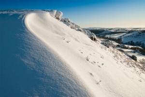 Hergest Ridge under snow